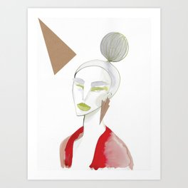 Marleen has sharp edges Art Print