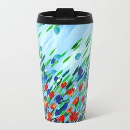Textured flowers Travel Mug