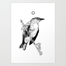 Key Bird Art Print