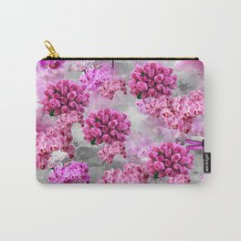 ORCHIDS ROSES AND MAGNOLIAS PINK Carry-All Pouch