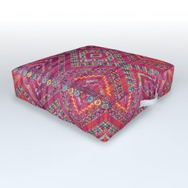N118 - Pink Colored Oriental Traditional Bohemian Moroccan Artwork. Outdoor Floor Cushion