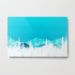 Turquoise Alaska - Pop Art I Metal Print