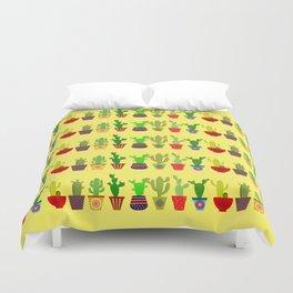 Cactus in Orange Duvet Cover