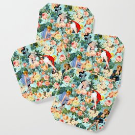 Floral and Pin Up Girls II Pattern Coaster