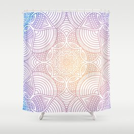Purple Ethic Floral Mandala Pattern Shower Curtain
