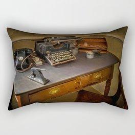 Vintage Writers Corner Rectangular Pillow