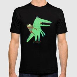 Crocodile and Sloth. T-shirt