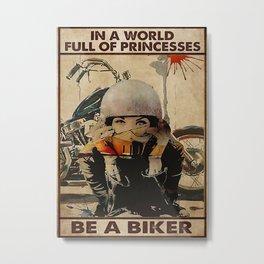 Speed Addicts Be A Biker Metal Print