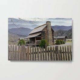 Appalachian Mountain Cabin Metal Print