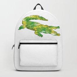 Green Yellow Crocodile Backpack
