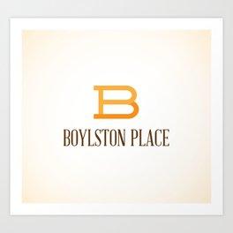 Boylston Place Art Print