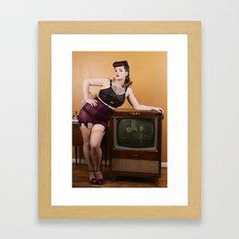 T.V. Land with Dapper Dan Doll 1 Framed Art Print