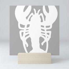 Grey Lobster Pattern Mini Art Print