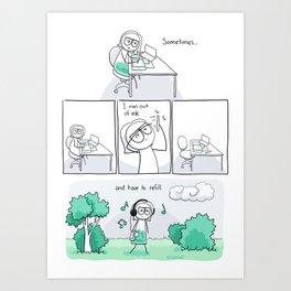 Refill Art Print