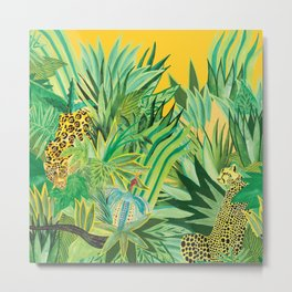 Leopard and a Chita Metal Print