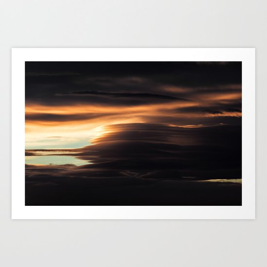Clouds Over Iceland Art Print