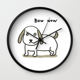 bow-wow Wall Clock