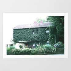 Wine maker house Art Print