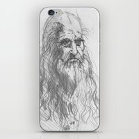 leonardo iPhone & iPod Skins featuring Leonardo by Kathryn Gabrielle Mauno
