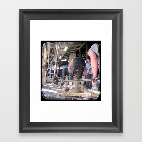 Heads Down, Bums Up - Through The Viewfinder (TTV) Framed Art Print