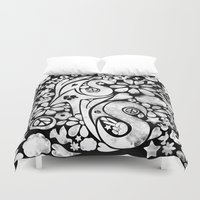 60s Duvet Covers featuring  BQ - Yas4Yas 60s Throwback - White by lessdanthree