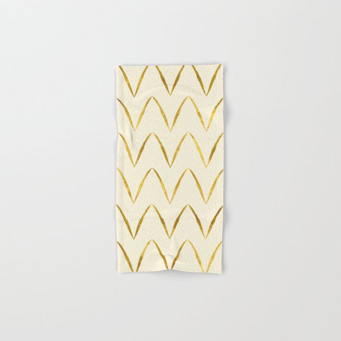 Cream Gold Foil 05 Hand & Bath Towel