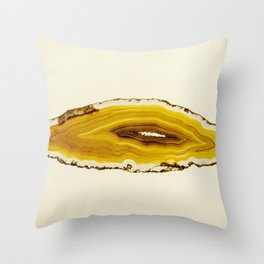 Agate - Yellow Slice Throw Pillow