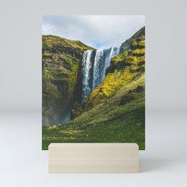 Subtle Skógafoss Mini Art Print