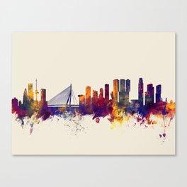 Rotterdam The Netherlands Skyline Canvas Print