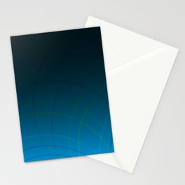 Abstract Circular Lines Stationery Cards