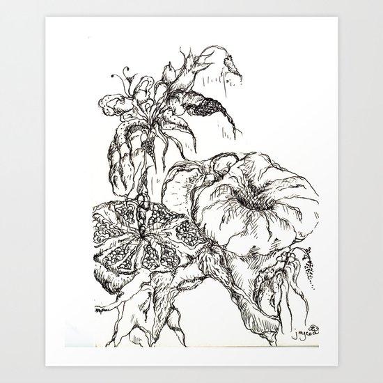 Botanical Abstract #3 Art Print