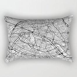 Paris Map White Rectangular Pillow