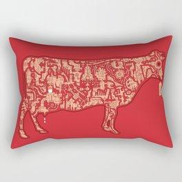 Milk Factory Cow Rectangular Pillow