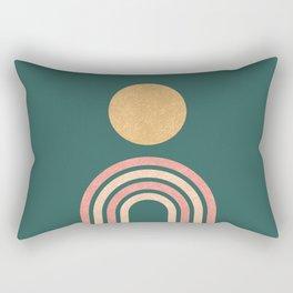 Mid century modern - green Rectangular Pillow
