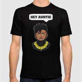 hey auntie black panther erik Killmonger T-shirt