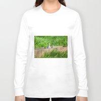 pigeon Long Sleeve T-shirts featuring pigeon by Marcel Derweduwen