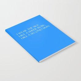Summer air (blue) Notebook