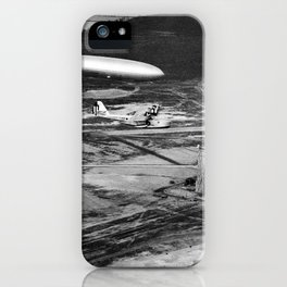 Zeppelin arrival over New Jersey iPhone Case