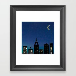 Night Life- The City Framed Art Print