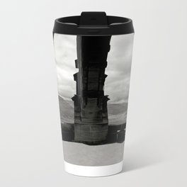 The Red Umbrella and view from Stirling's Wallace Monument  Metal Travel Mug