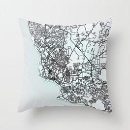 Bridgetown, Barbados, White, City, Map Throw Pillow