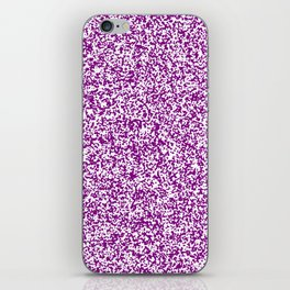Tiny Spots - White and Purple Violet iPhone Skin
