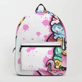 Pink tentacle with ice cream Backpack