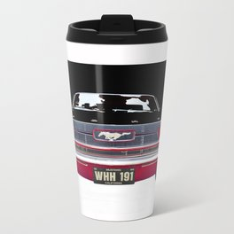 Vintage Mustang Classic Car Metal Travel Mug