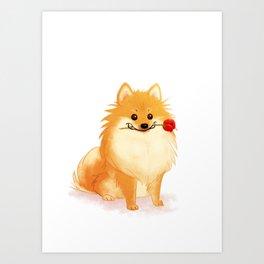 Charming Pomeranian Art Print