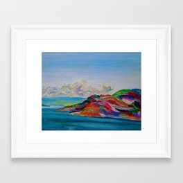 To Kelowna Framed Art Print