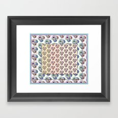 Paisley pattern Framed Art Print