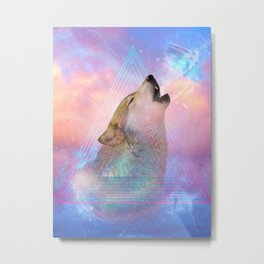 Dream By Day (Wolf Dreams - Remix Series) Metal Print
