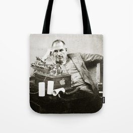 Steve Jobs As Edison Tote Bag