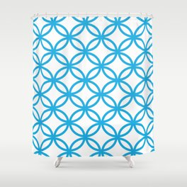 Interlocking Blue Shower Curtain